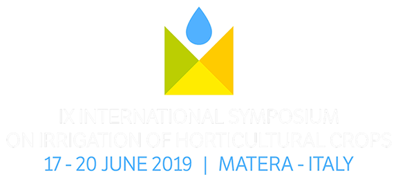 The IX ISHS International Symposium on Irrigation of Horticultural Crops, Matera (Italy)