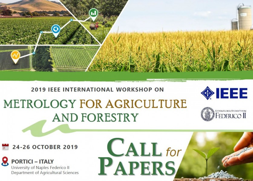 2019 IEEE International workshop on Metrology for Agriculture and Forestry, Naples (Italy)