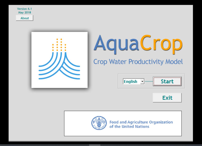 AquaCrop Online Workshop